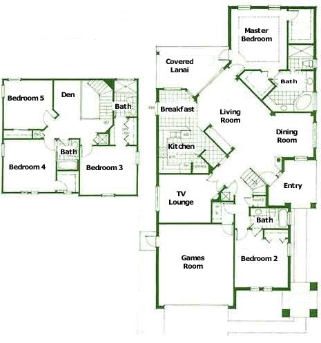 Smiths Disney Villa downstairs plan